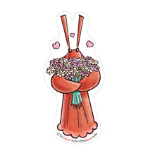 Load image into Gallery viewer, Little Lobster with Flowers Vinyl Sticker