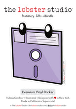 Load image into Gallery viewer, Theater of the Obsolete Floppy Disk Vinyl Sticker
