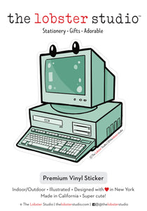 Theater of the Obsolete Desktop Computer Vinyl Sticker