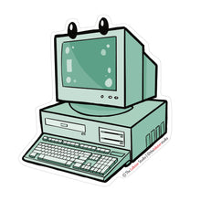 Load image into Gallery viewer, Theater of the Obsolete Desktop Computer Vinyl Sticker