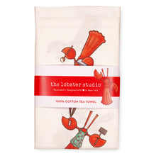 Load image into Gallery viewer, Little Lobster Tea Towel