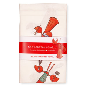 Little Lobster Tea Towel