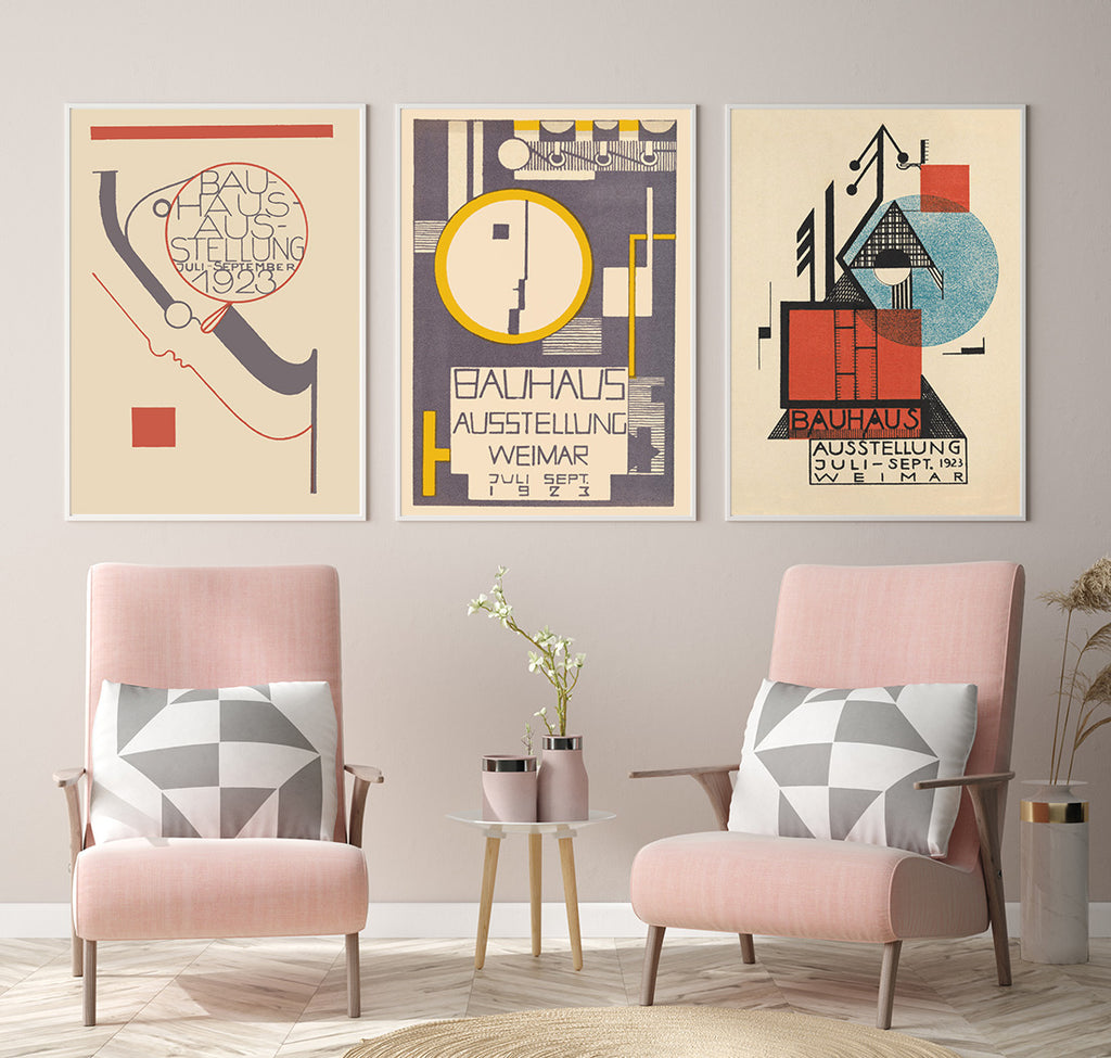 7 ideas to add Bauhaus posters to your walls