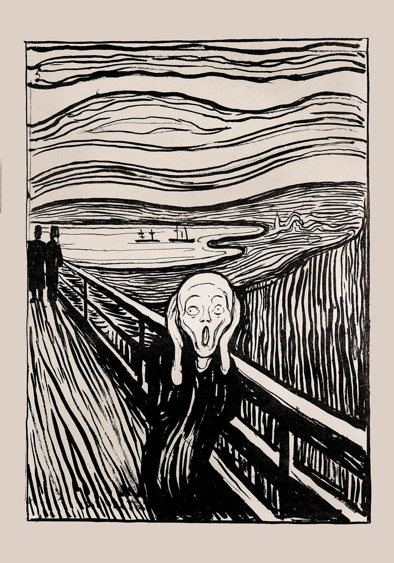 The Scream Art Poster by Edvard Munch