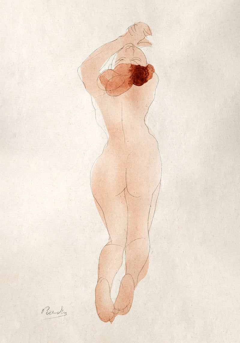 Chéri Nude Poster by Auguste Rodin
