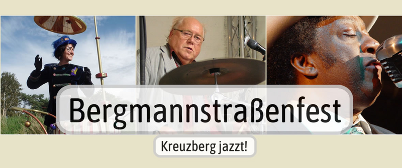 """Bergmannstraßenfest – Kreuzberg jazzt!"" - KURIOSIS Prints sind dabei / See you at the Jazz Fest"