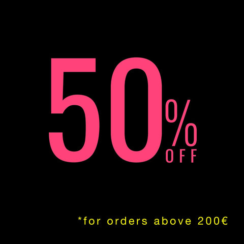 50% percent of all orders above 200€