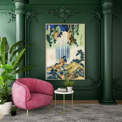 Bring a waterfall inside your living room with this print, available in large-format 100% cotton canvas.