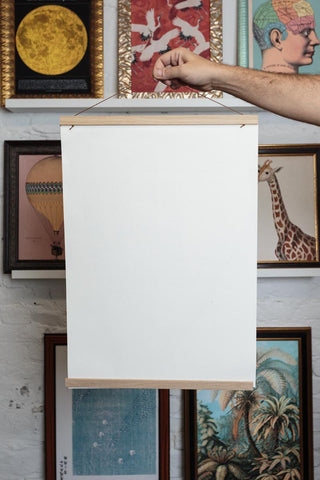 Magnetic Poster Hanger with Cotton Canvas Print from the back