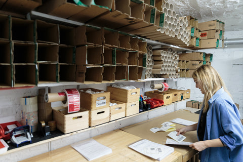 Shipping department at KURIOSIS