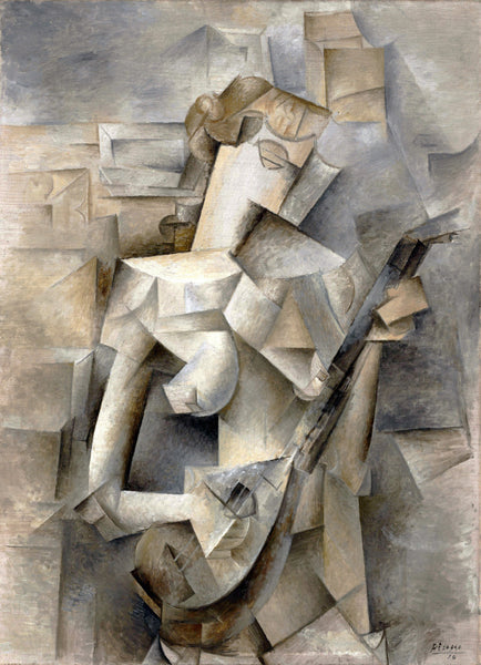 Girl with a Mandolin (Fanny Tellier) by Pablo Picasso