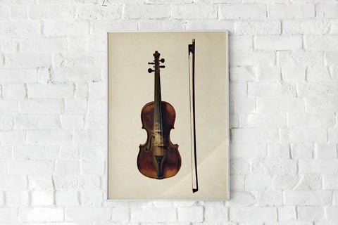 Antique Violin Poster