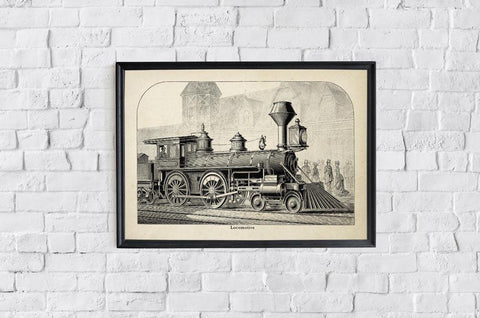 Antique Locomotive I Poster