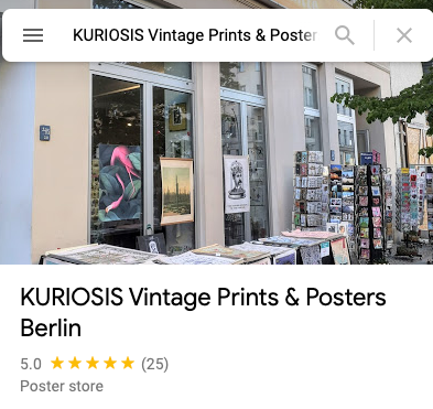 FIVE STAR Reviews on Google Maps for KURIOSIS