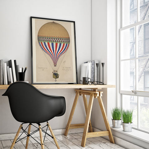 Tricolore Balloon Fine Art Reproduction