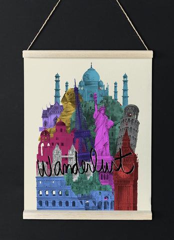 Wanderlust World Monuments Poster