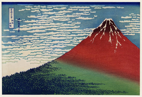 """Fine Wind, Clear Morning"" by Hokusai"