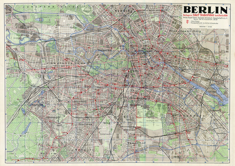 1930 Berlin Poster - Perfect for Living Room and Office ! - Kuriosis Vintage Prints