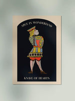 Knave of Hearts from Alice in Wonderland Art Poster