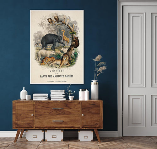 Animal Kingdom Vintage Nature Poster
