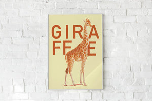 Yellow Giraffe Poster