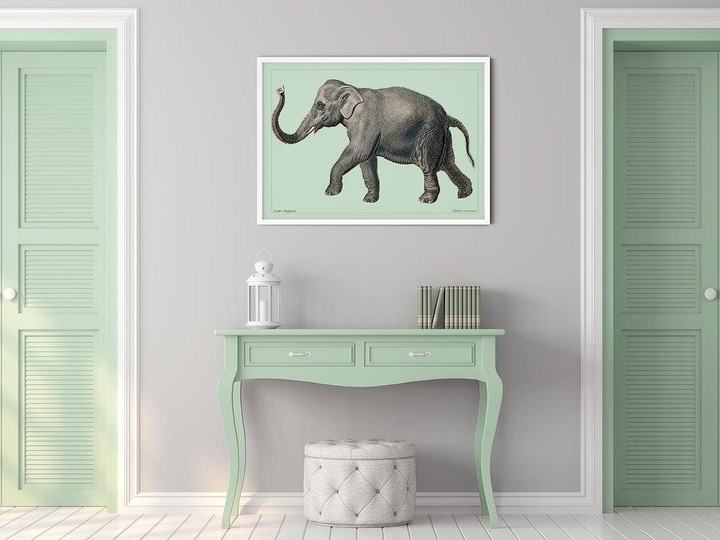 Green Elephant Poster