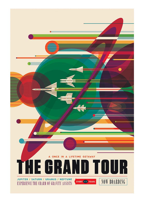 The Grand Tour Vintage Space Poster