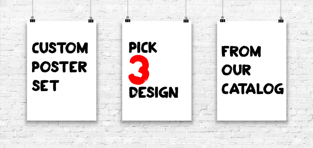 Custom Request Set of 3 Prints