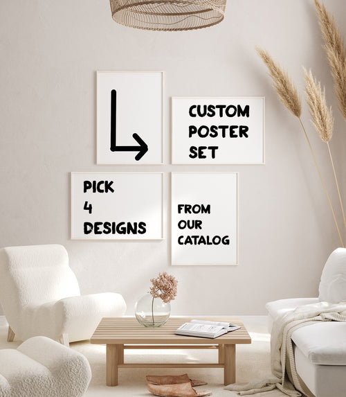 CUSTOM POSTER SET from KURIOSIS.COM