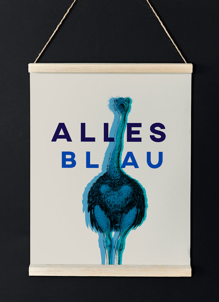 Alles Blau - Funny Poster for German Quotes lovers! - Kuriosis Vintage Prints