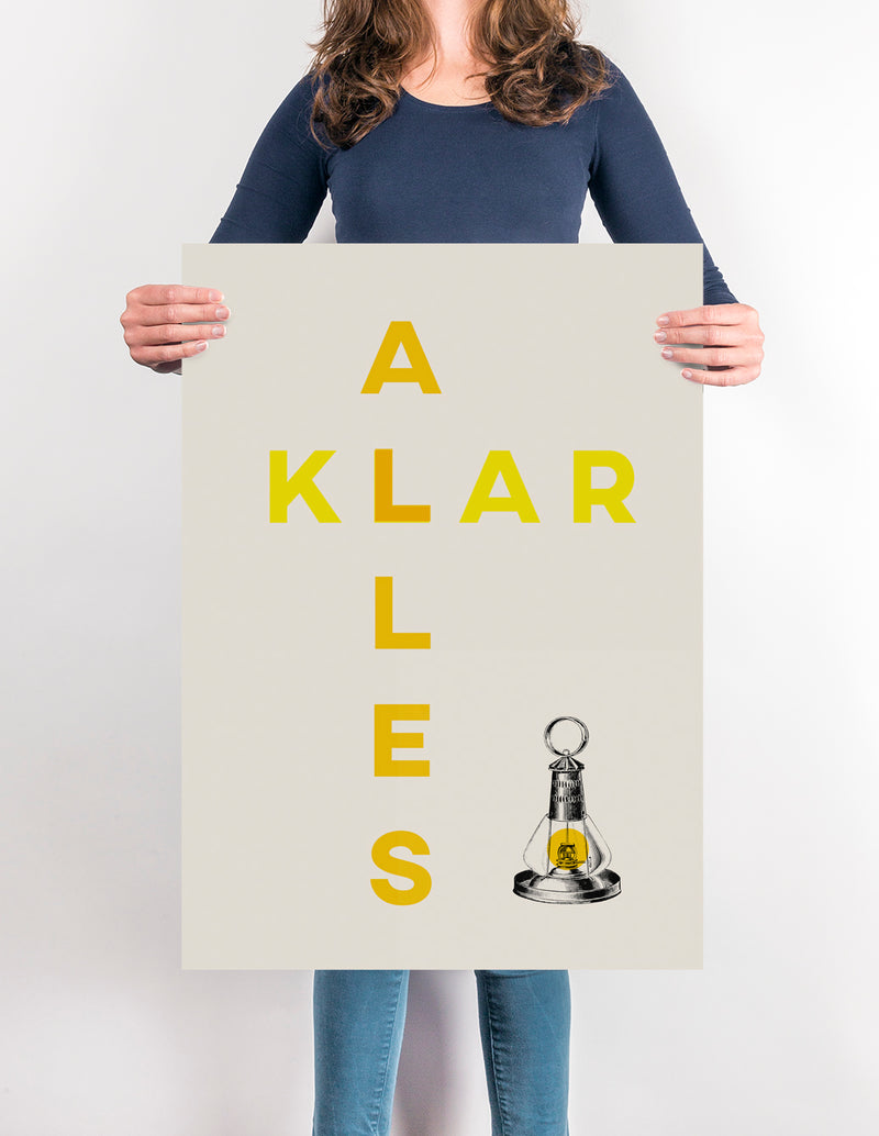 Alles Klar - Funny Poster for German Quotes lovers! - Kuriosis Vintage Prints