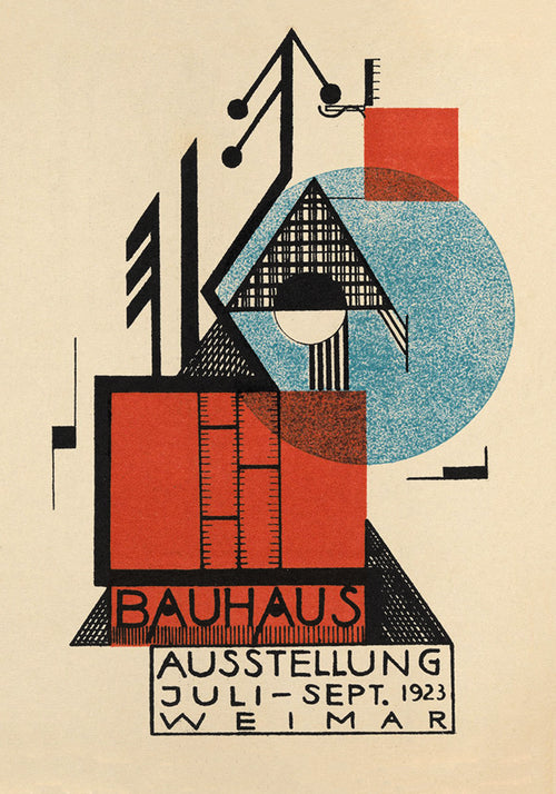 Bauhaus Weimar Exhibition Art Poster by Rudolf Baschant
