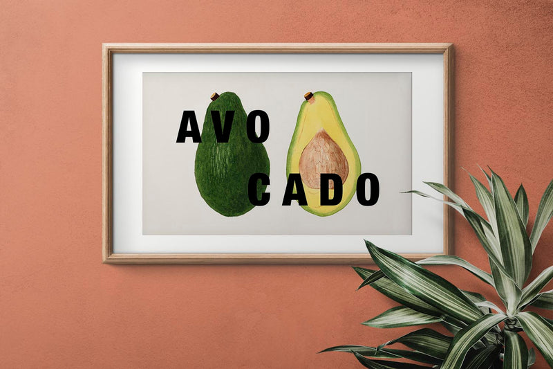 AVOCADO Art Print by KurIOSIS