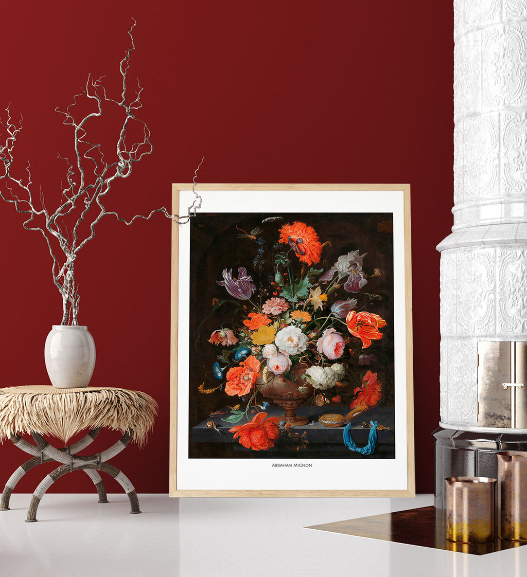 Flowers by Abraham Mignon Poster