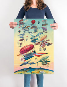 Vintage Balloon Chart - Lovely antique poster for your home decor!