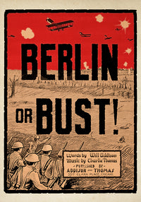 Berlin or Bust! - Vintage Berlin poster for your wall! - Kuriosis Vintage Prints