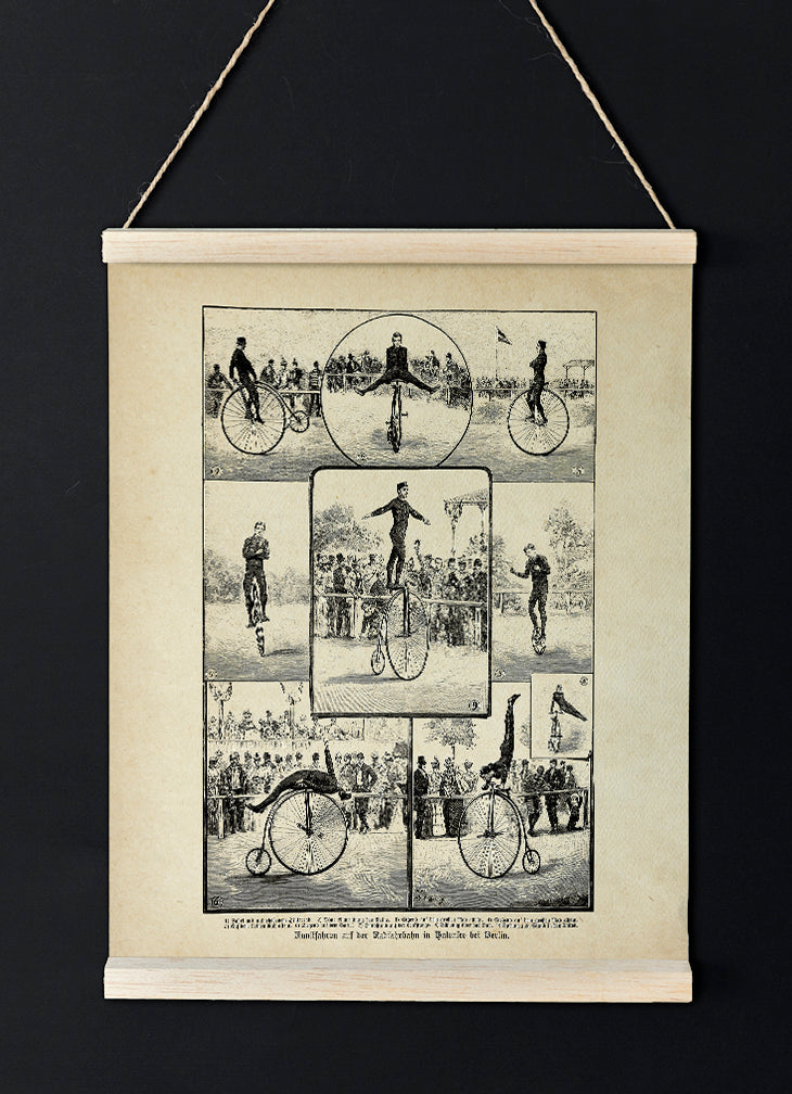 Bikers & Acrobatics - Vintage Circus Poster - Lovely decor idea for your room!