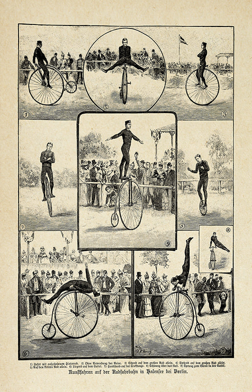 Bikers & Acrobatics - Vintage Circus Poster - Lovely decor idea for your room! - Kuriosis Vintage Prints