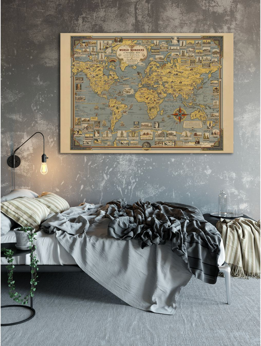 World of Wonders Map - Kuriosis Vintage Prints