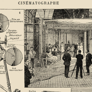 Vintage Cinema Chart - The art of Cinematography in a XXL Poster! Perfect for your wall!