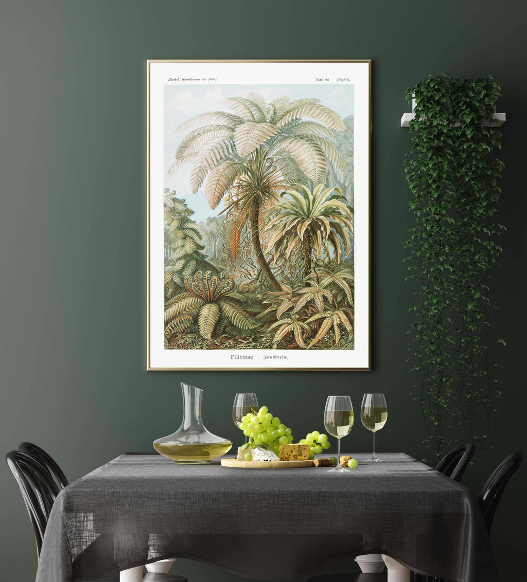Filicinae Palm Tree by Ernst Haeckel Poster with borders
