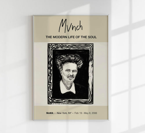 """August Strindberg"" by Edvard Munch Art Exhibition Poster"