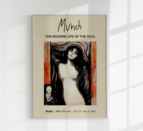 Madonna by Edvard Munch Art Exhibition Poster