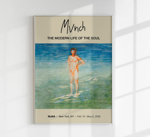 Man Bathing by Edvard Munch Art Exhibition Poster