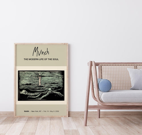 Mystical Shore by Edvard Munch Art Exhibition Poster