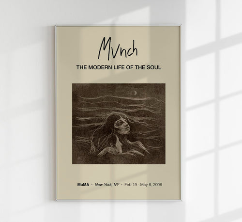 On the Waves of Love by Edvard Munch Art Exhibition Poster
