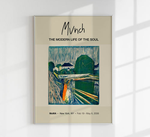 The Girls on the Bridge by Edvard Munch Art Exhibition Poster