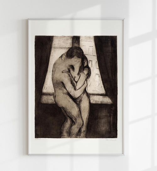 """The Kiss"" by Edvard Munch Art Poster"