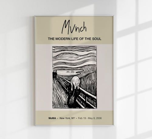 The Scream by Edvard Munch Art Exhibition Poster