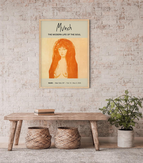 The Sin, Woman with Red Hair and Green Eyes by Edvard Munch Art Exhibition Poster